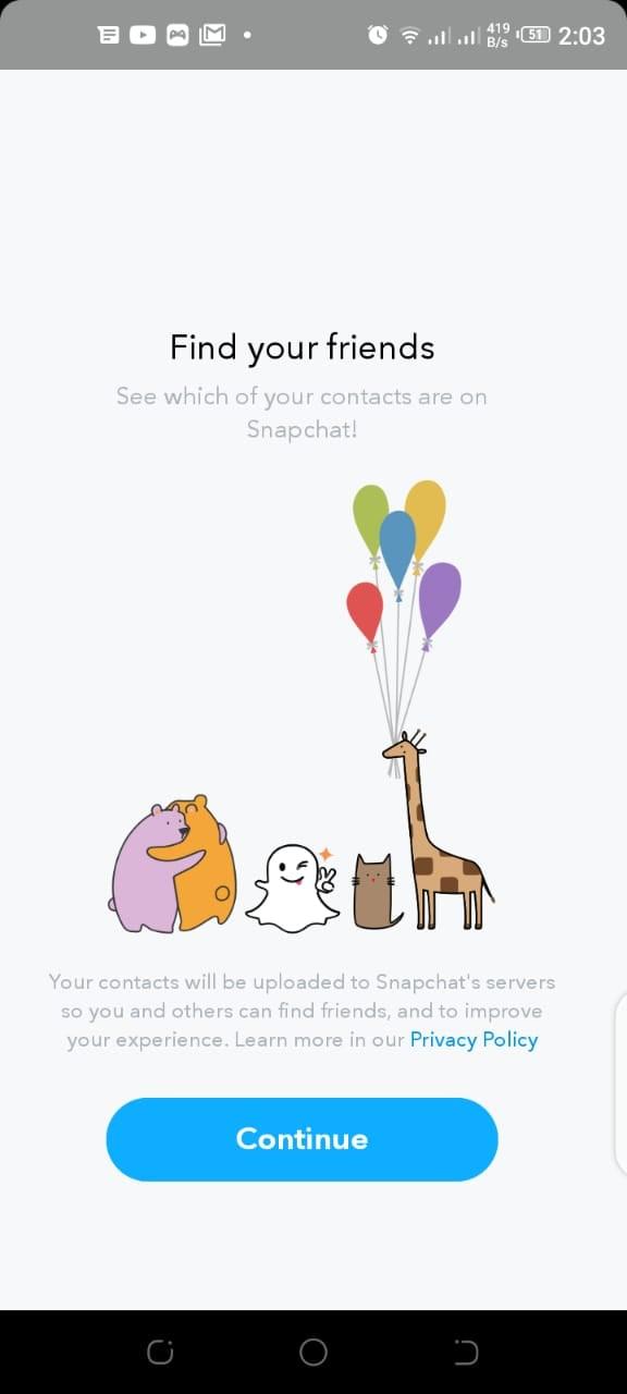 find snapchat user