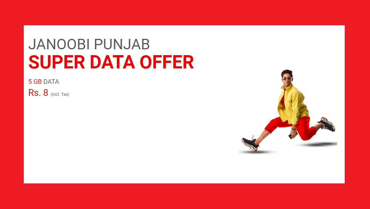 Janoobi Punjab Super Data Offer