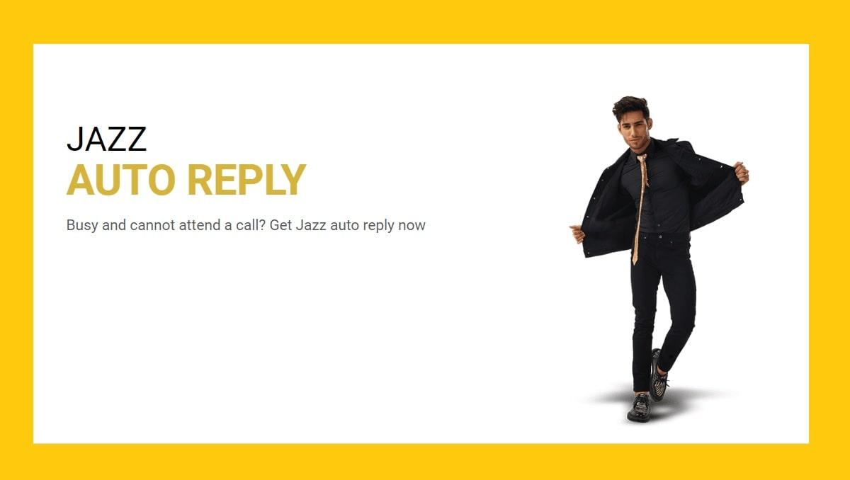 Auto Reply on Jazz Postpaid