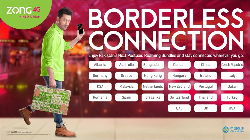 Photo of Zong 4G introduces Unbeatable International Roaming Bundles for 26 countries across Three Continents
