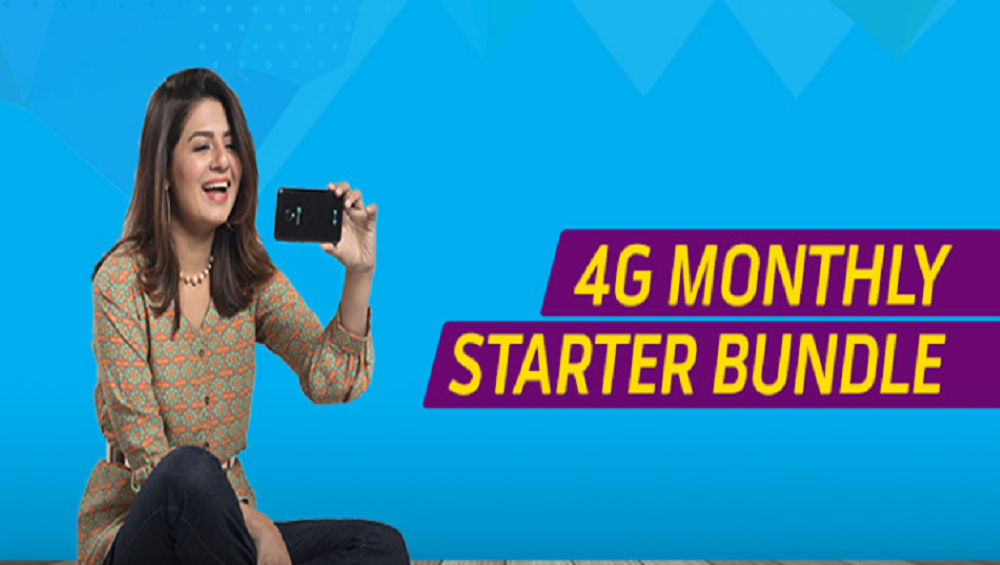 Get Telenor 4G Monthly Starter Bundle in Rs. 300