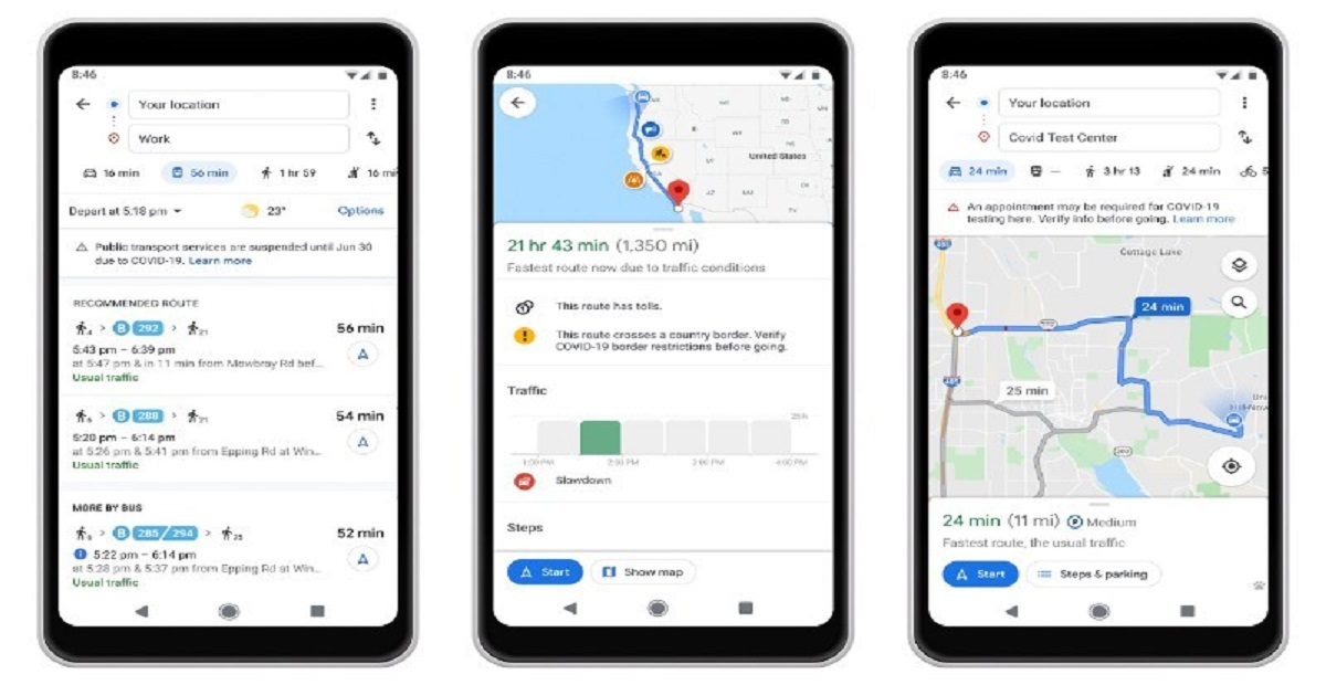 You can now get around quickly with new Google Maps COVID alerts