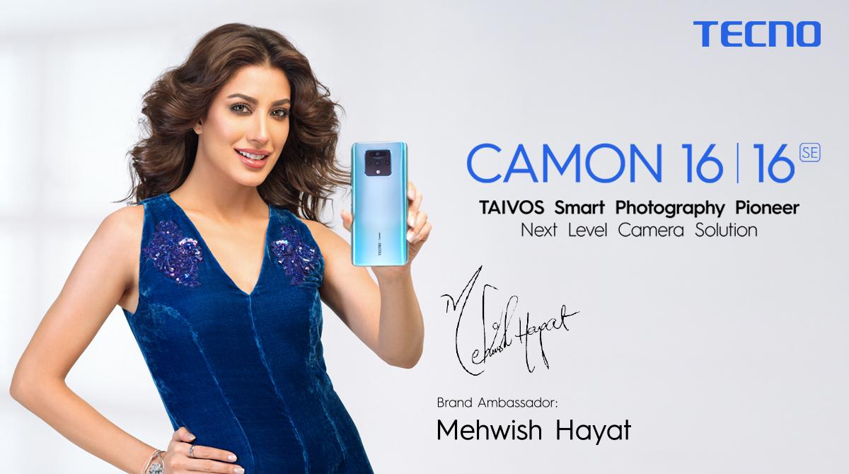 Photo of TECNO'S AMBASSADOR MEHWISH HAYAT BRINGS THE NEW PHOTOGRAPHY PHONE CAMON 16