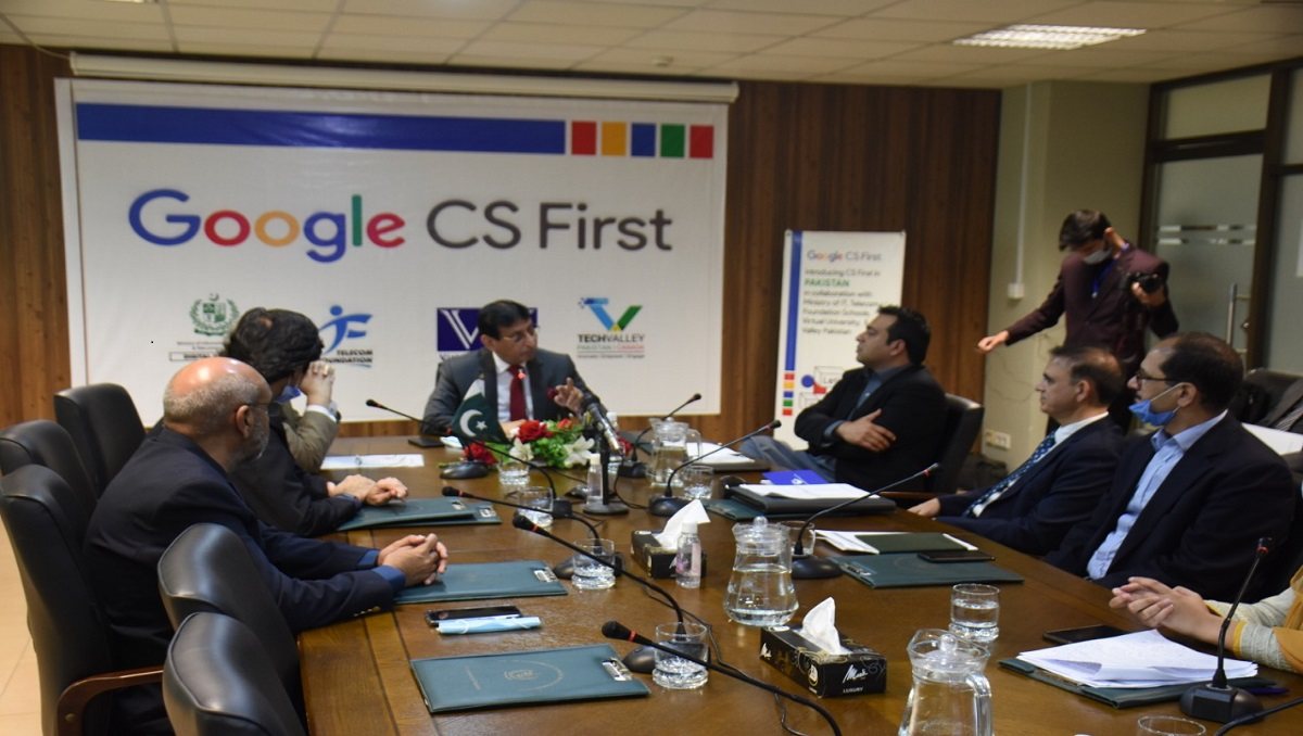 Federal Minister for IT and Telecommunication Syed Amin Ul Haque launches Google's CS First Program