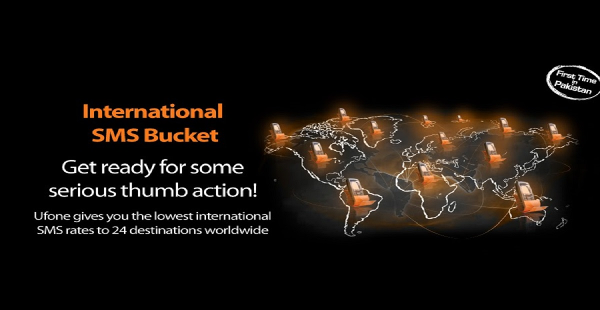 Now Enjoy 100 SMS with Ufone International SMS Bucket