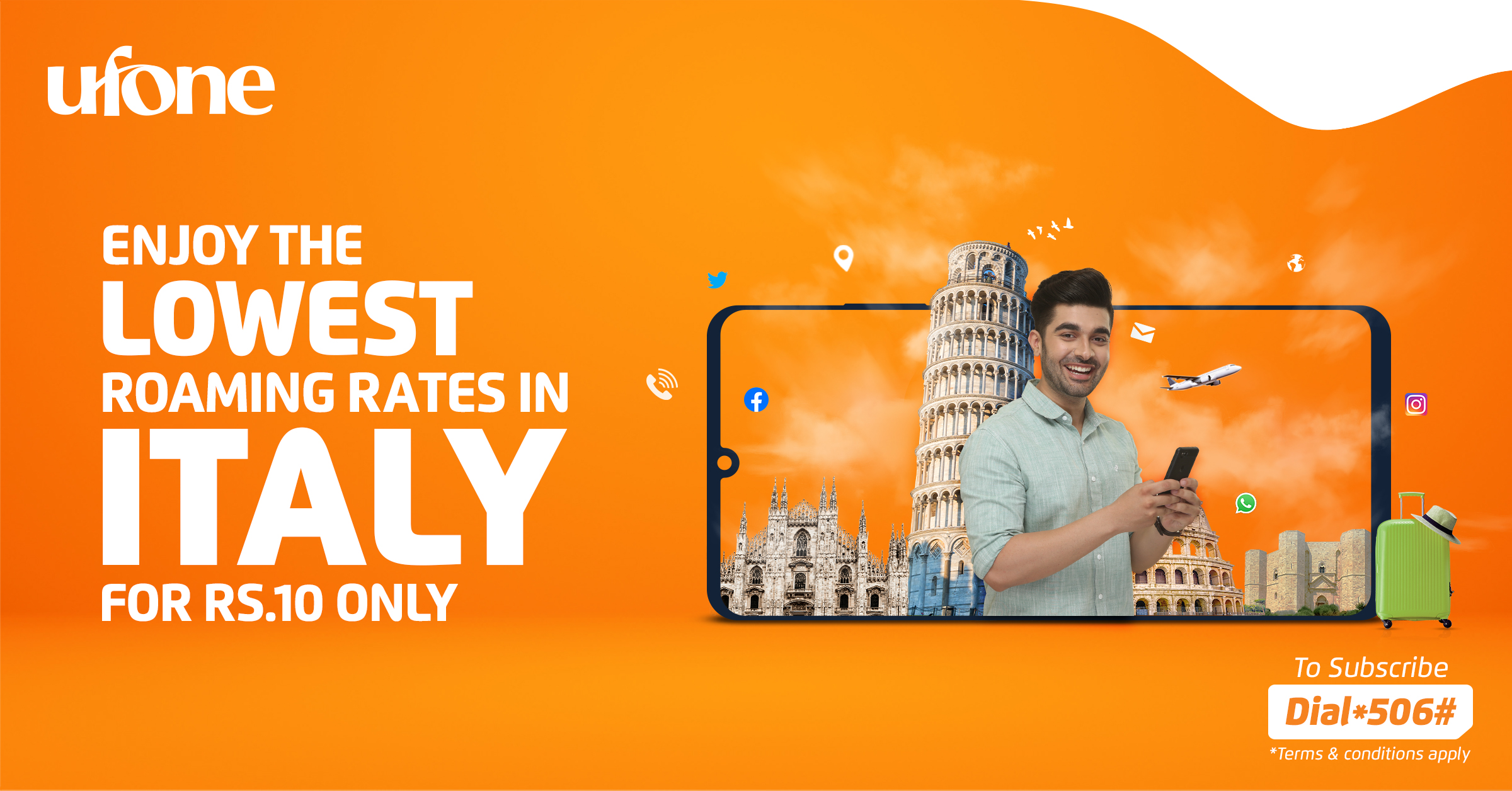 Photo of Ufone offers lowest international roaming rates for Italy