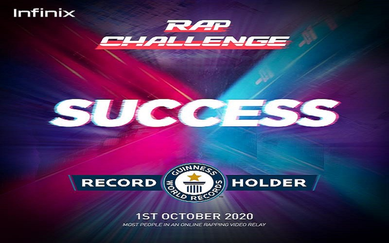 Photo of Pakistani Artists Take Part in Infinix's Rap Video Relay, Set GUINNESS WORLD RECORD