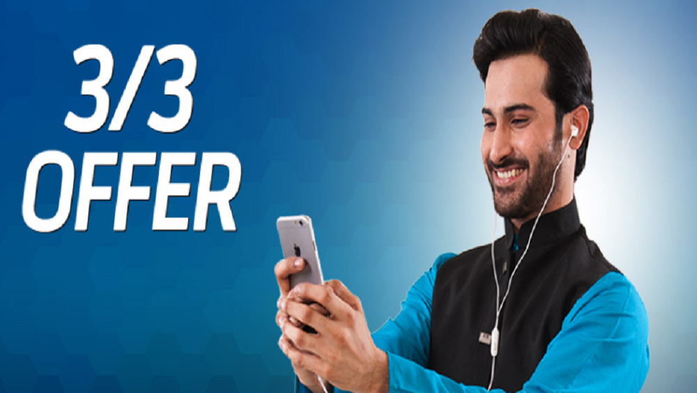 Enjoy Telenor 3/3 Offer in Rs. 50