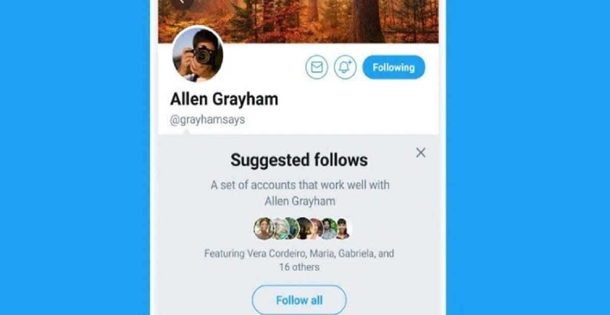 "Twitter has launched a new Feature of ""Grouped follow"" on Android Devices"