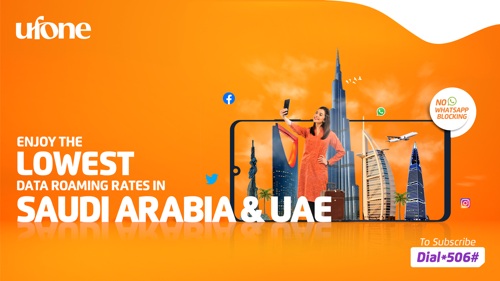 Photo of Ufone offers lowest data roaming rates for Saudi Arabia and UAE
