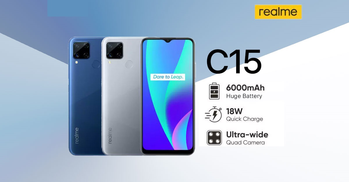 Photo of Meet the Realme C15! A Humongous 6000mAh Battery + 18W Quick Charge
