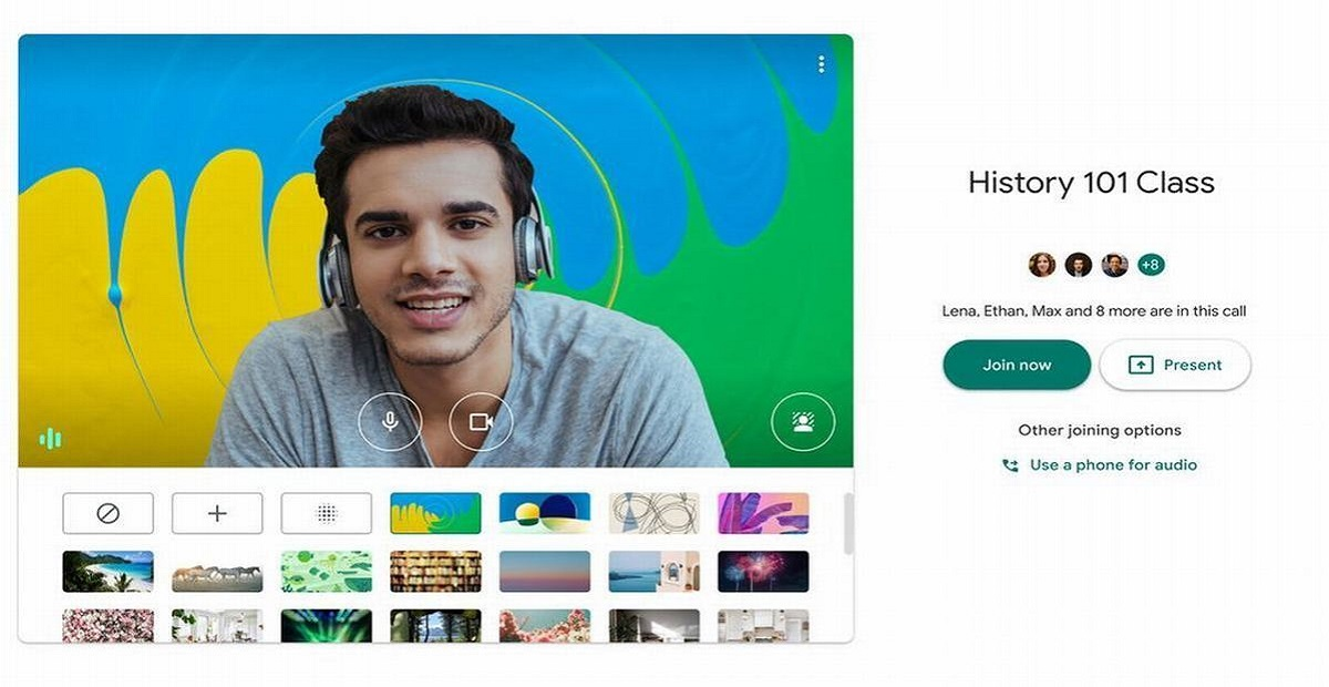 Google Meet has launched a Custom Background Feature for Desktop Users