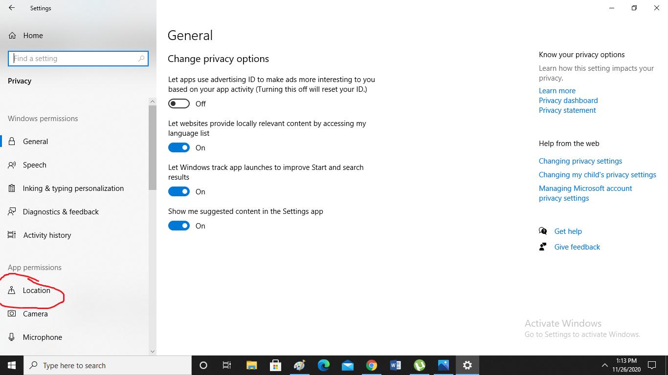 چطور در ویندوز 10، دسترسی به موقعیت مکانی را خاموش کنیم؟