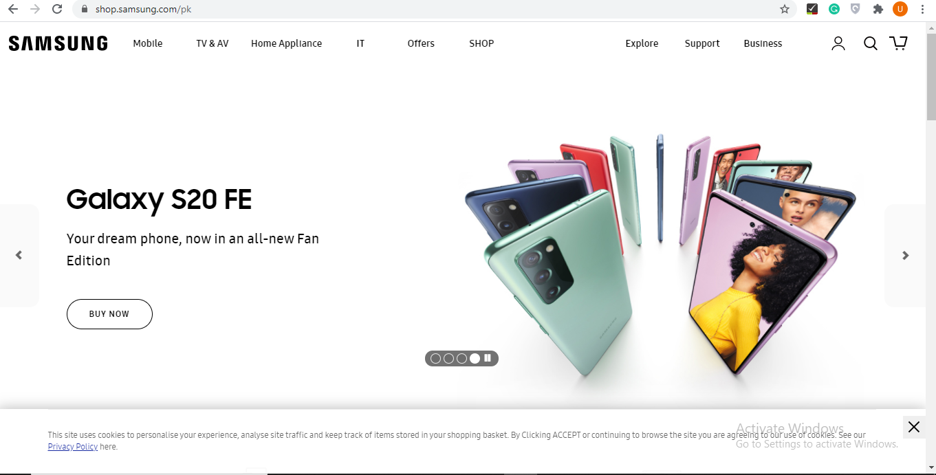 online samsung stores