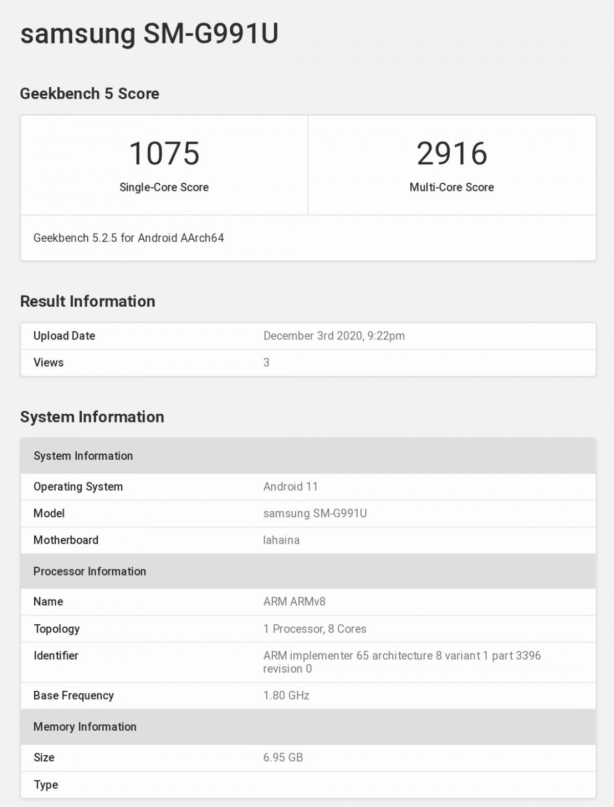 Galaxy S21 Snapdragon 888