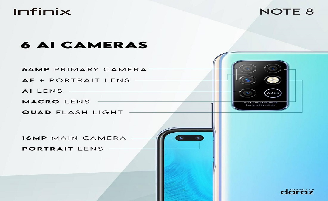 Photo of Infinix Note 8 is a real photography king with 64 MP Six Cameras