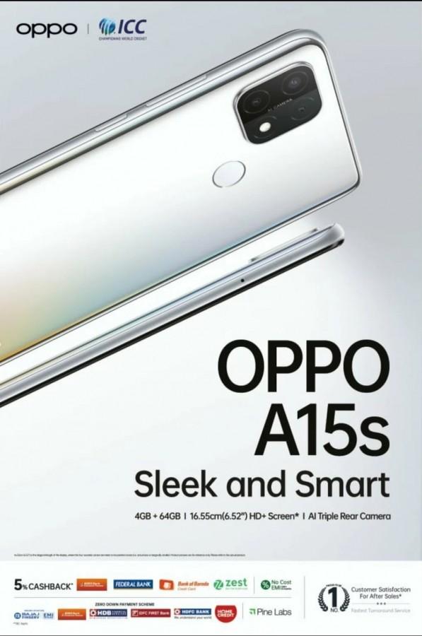 OPPO A15s key specs