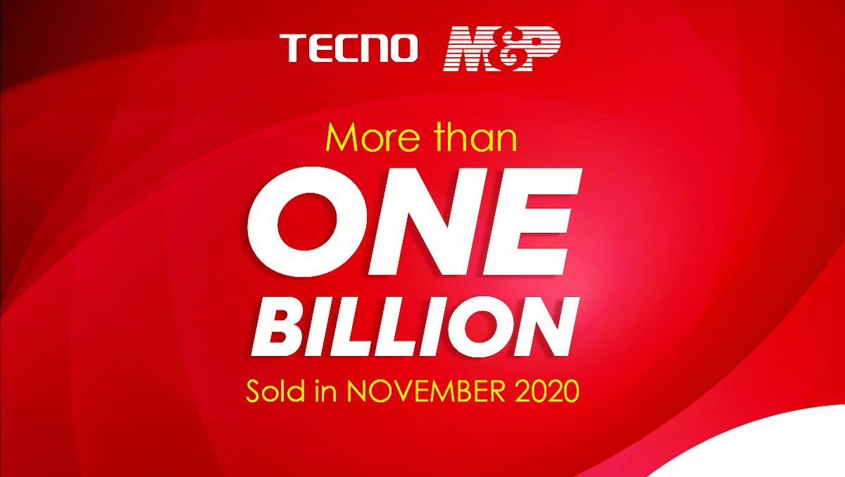 Photo of TECNO AND M&P CELEBRATE 1 BILLION SALES RECORD