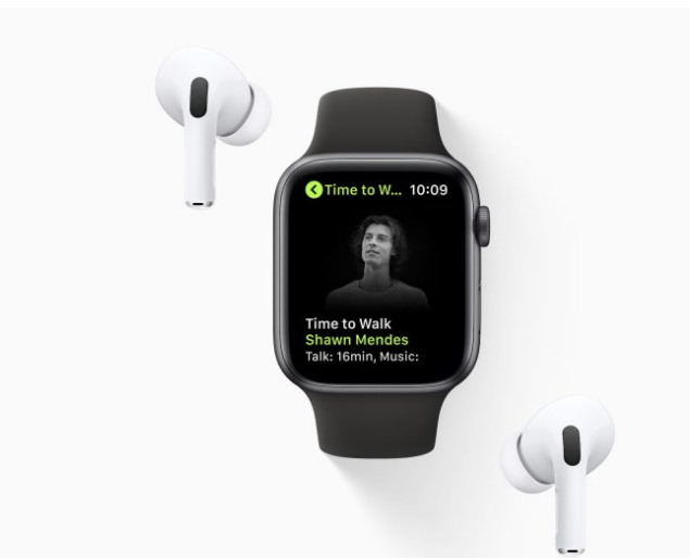 Photo of Apple watch adds 'Time to walk' on fitness+