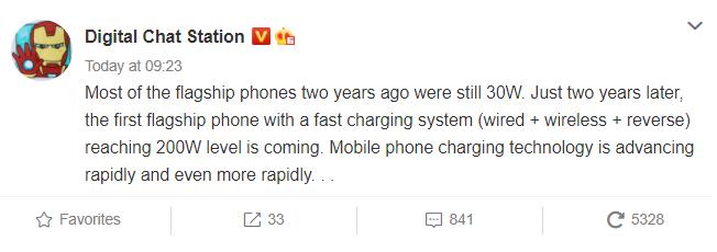 200W+ Fast charging