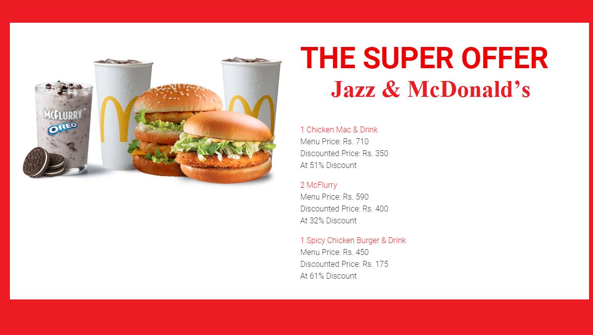 Jazz McDonald's super offer