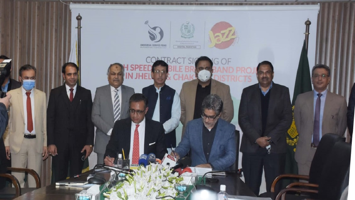 Photo of USF Awards Contract worth PKR 254 Million to Jazz for Providing Broadband Services in Jhelum and Chakwal Districts