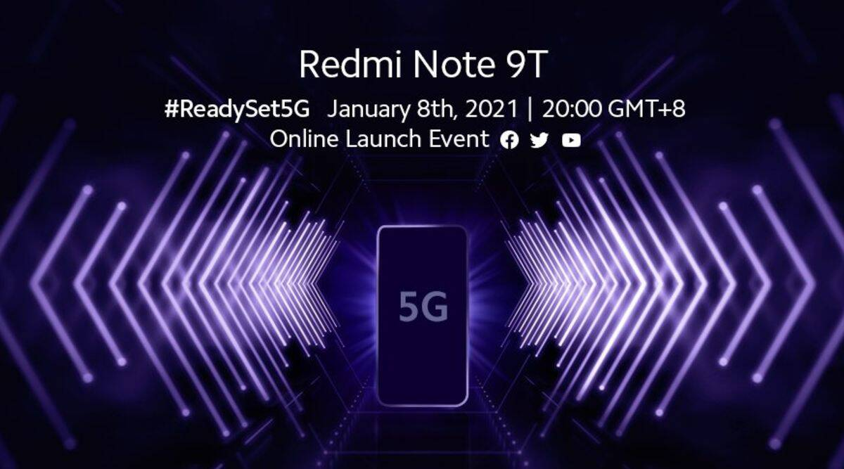 Xiaomi Redmi Note 9T will be Launched on January 8 Globally