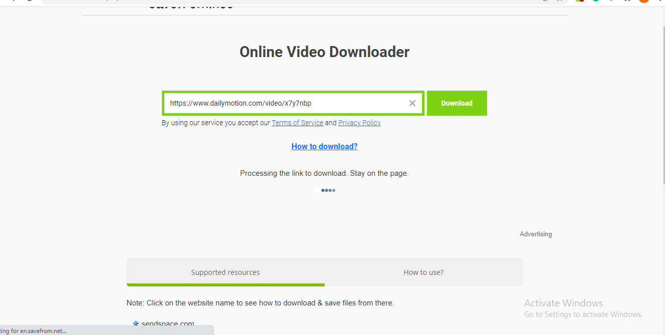 how to download movie from savefrom