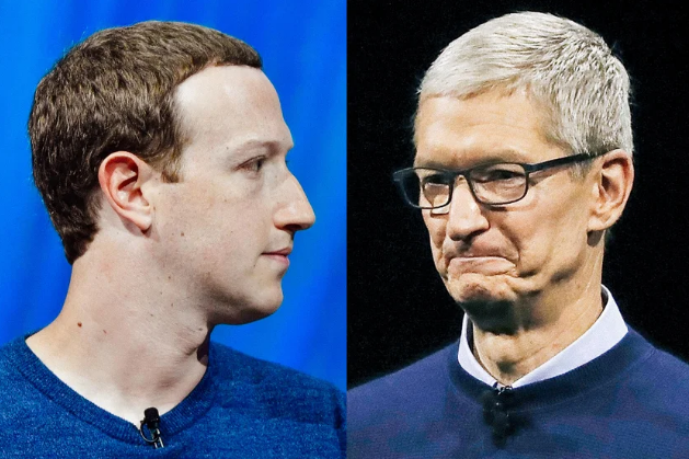 "Photo of Facebook CEO says, ""Apple is now our biggest rival"""