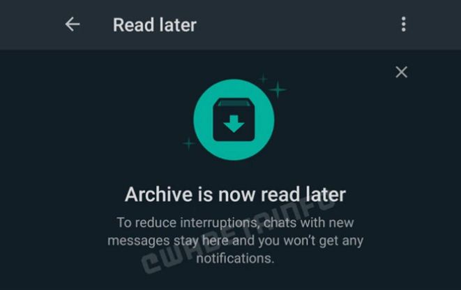 Photo of Whatsapp archived chats to replace with 'Read Later' feature