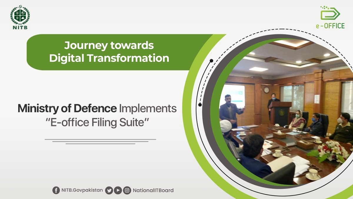 Ministry of Defence Implements E-Office Filing Suite