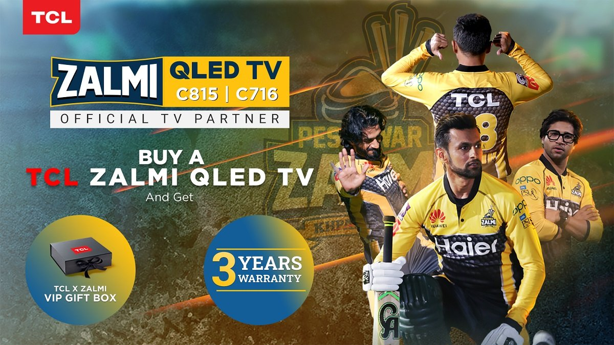 Photo of TCL Launches QLED C815 and C716 as Zalmi TV ahead of HBL PSL 6