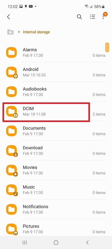 transfer photos to SD card on OneUI