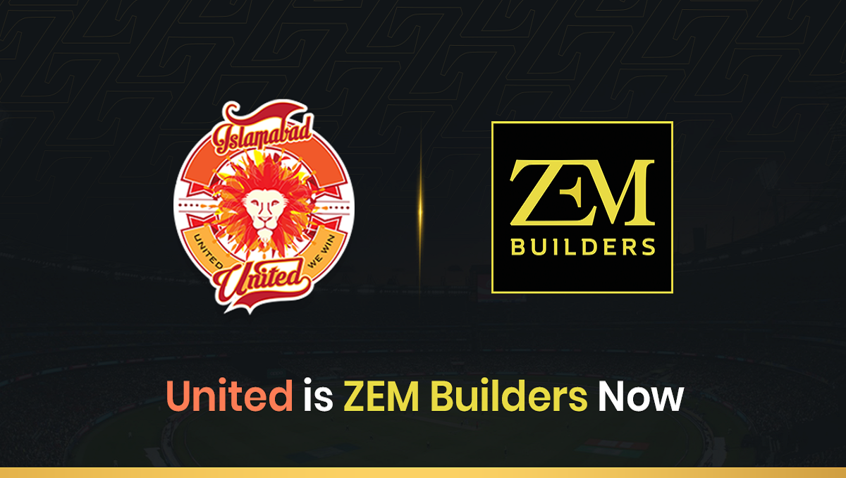 Photo of ZEM Builders Become the Official Sponsor of Islamabad United For PSL 6