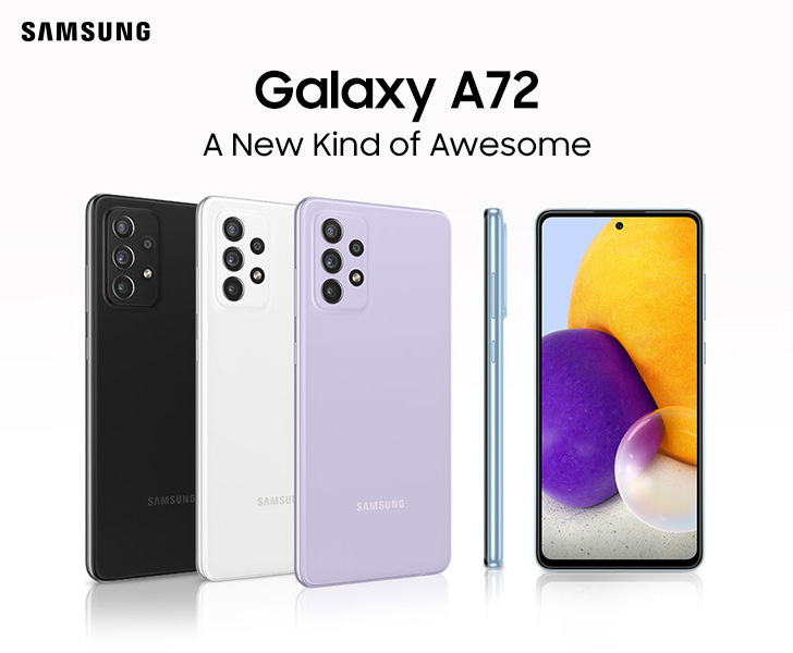 Samsung Galaxy A72: Now Available in Rs. 57,999 in Pakistan