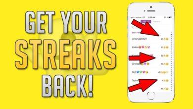 get a snap streak back
