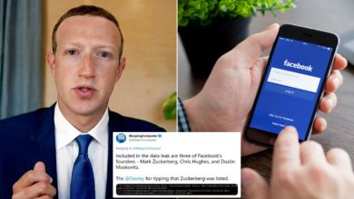 Facebook's CEO Phone Number Appears Among Leaked Data of Users