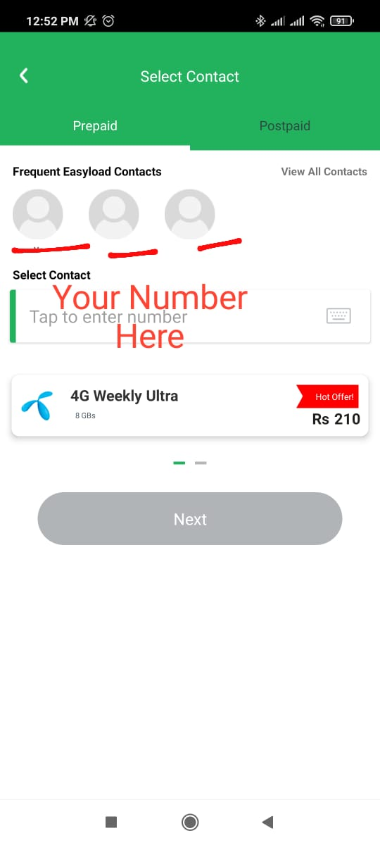 easypaisa app for ufone load