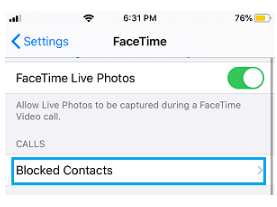 view blocked senders in the messages app