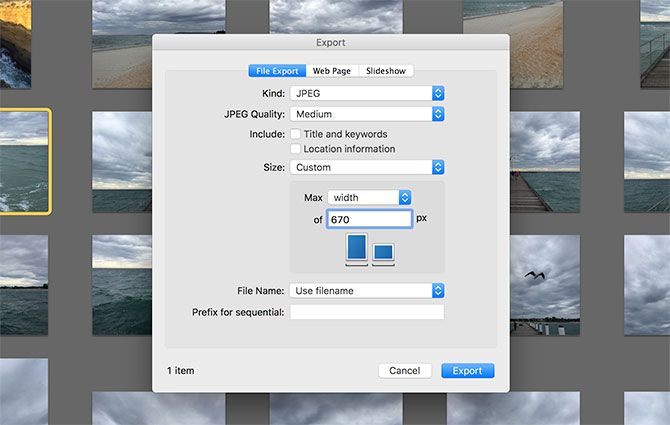 how to change size of JPEG on mac