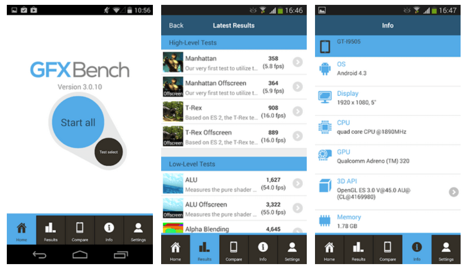 benchmark applications for android