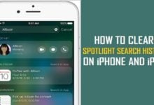 How to Clear Spotlight Search History on iPhone?