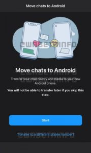 WhatsApp Chats Transferred