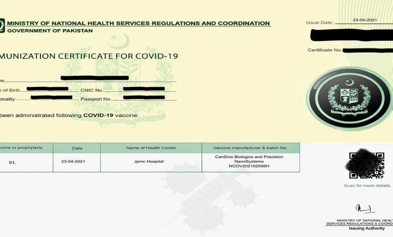 How to Get Vaccination Certificate from Nadra Online?