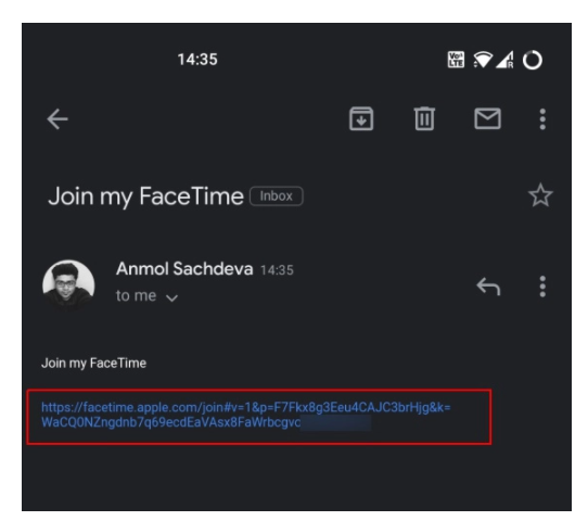FaceTime call from your Android