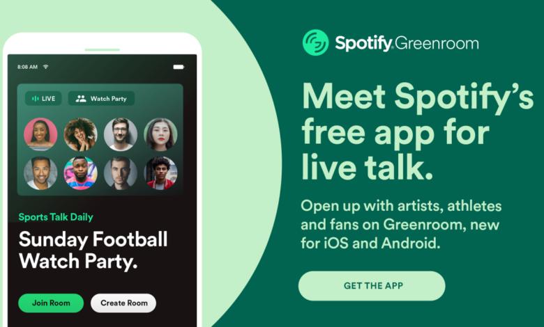 Spotify's Locker Room mobile app renamed Greenroom