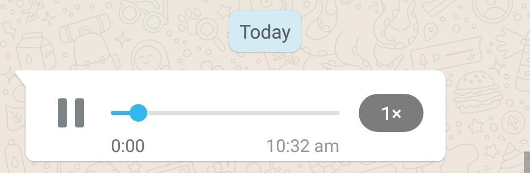 WhatsApp Voice Note at 1x speed