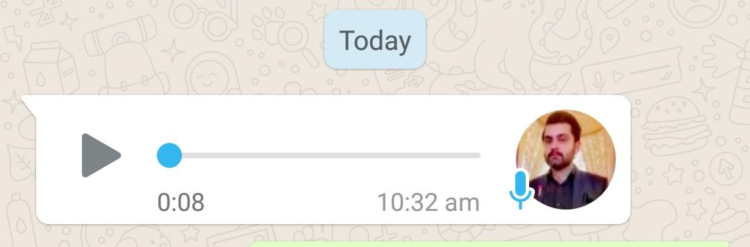 Play WhatsApp voice note at 1x speed