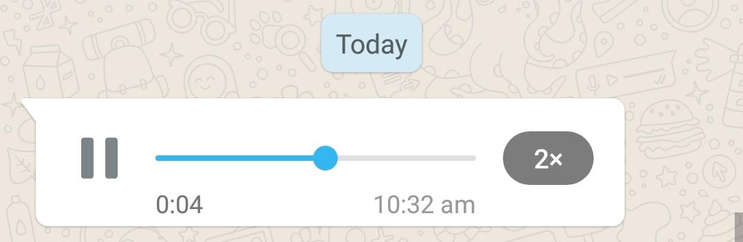 Play WhatsApp Voice Message at 2x speed