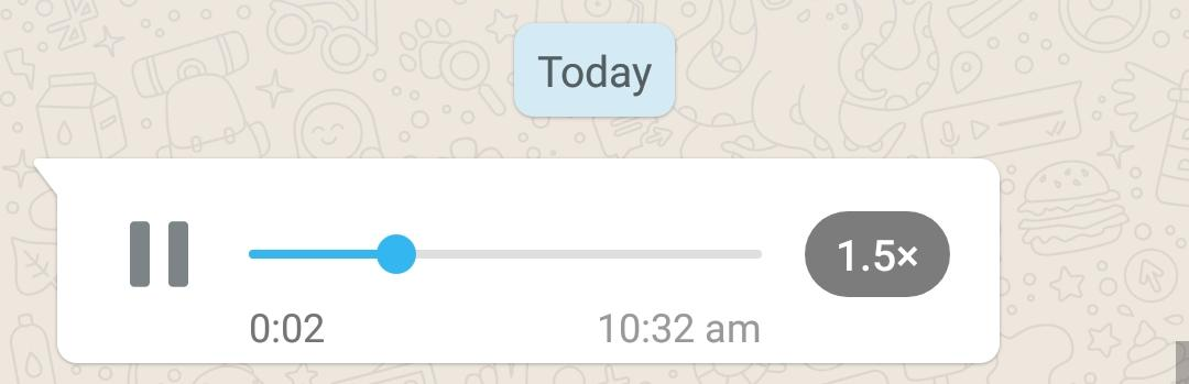 Play WhatsApp Voice Note at 1.5x speed